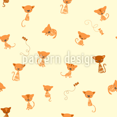 Lustige Kätzchen Rapportiertes Design
