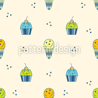 Ice cream and Muffin Repeat Pattern