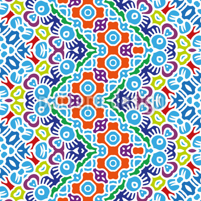 Tessilated Zig Zag Vector Pattern