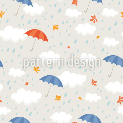 Regenschauer Nahtloses Vektormuster