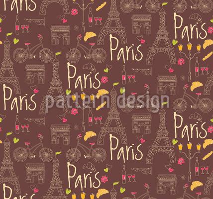 I Love Paris Repeating Pattern