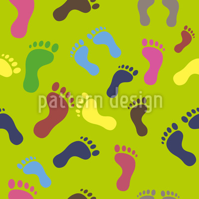 Foot Traces Repeating Pattern
