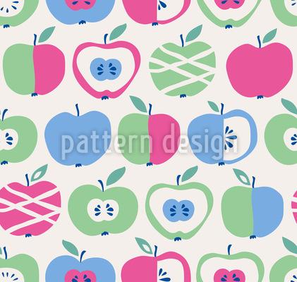 Kandierte Äpfel Nahtloses Vektor Muster