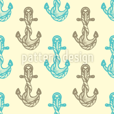 Sea Anchors Seamless Vector Pattern Design