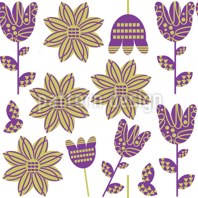 Fabric Flowers Repeating Pattern