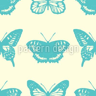 Sommer Schmetterlinge Nahtloses Vektor Muster
