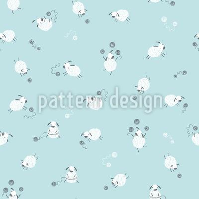 Lustige Schafe Muster Design
