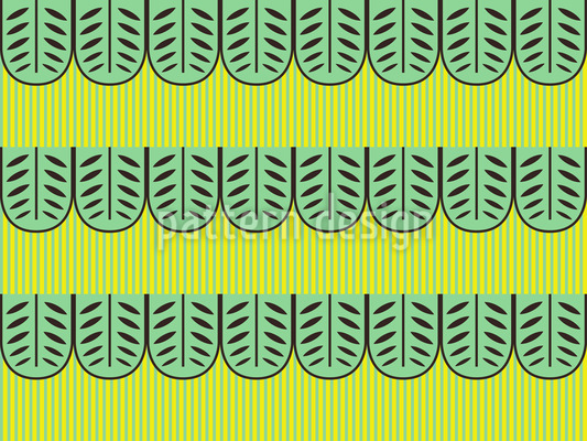 Exotische Blätter Musterdesign