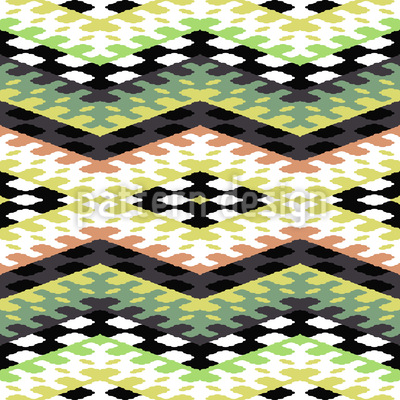 Stripes With Squares Design Pattern