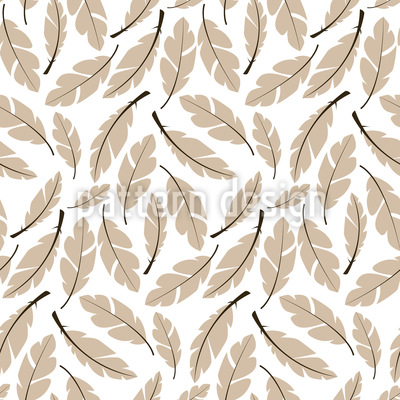 Soft Pillow Feathers Vector Pattern