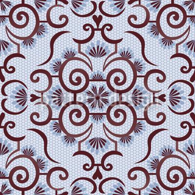Spitzen Idol Blau Nahtloses Vektor Muster