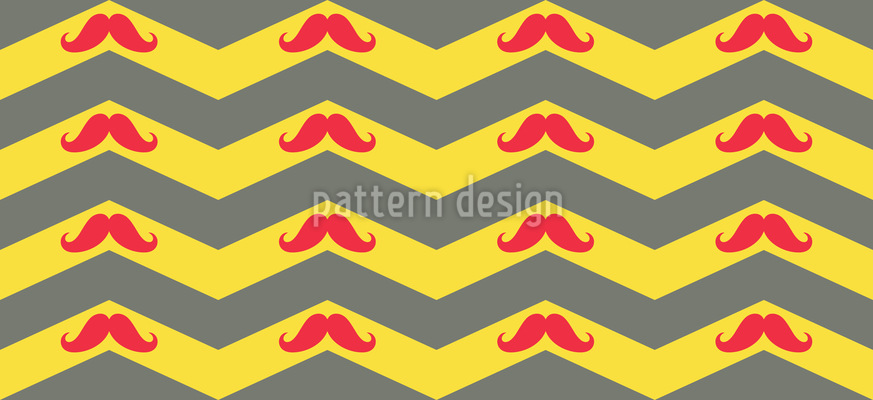Mustache Chevron Pattern Design