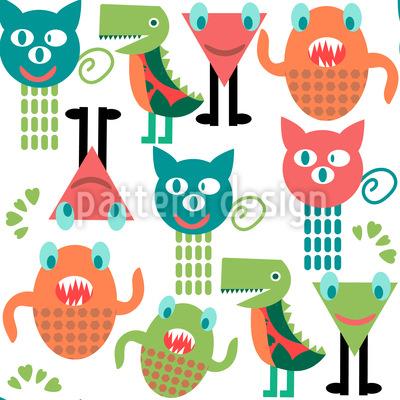 Süße Monster Rapportiertes Design