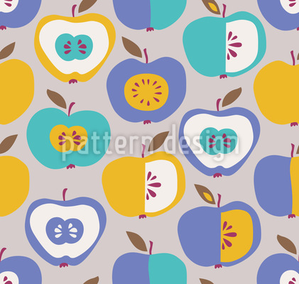 Halbierte Äpfel Rapport