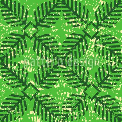 Leaf Stamp Vector Ornament