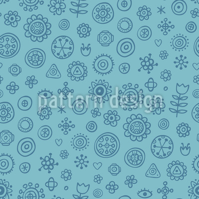 Floral Scrapbook Doodles Pattern Design