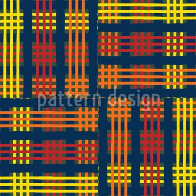 Tartan Tuch Rapportiertes Design