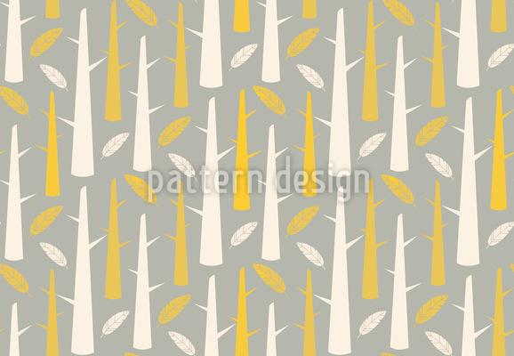 Bäume Mit Federn Muster Design