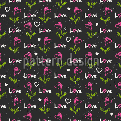 Hearts And Hearts Flowers Design Pattern