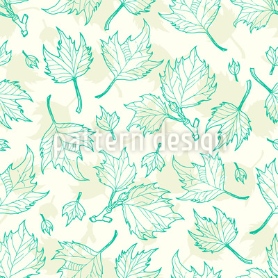 Sycamore Leaves Seamless Pattern