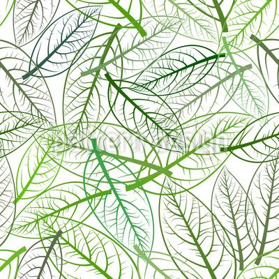 Avocado Blätter Rapportmuster