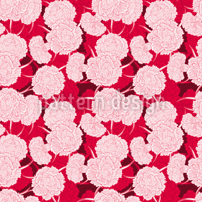 Passion For Carnations Pattern Design