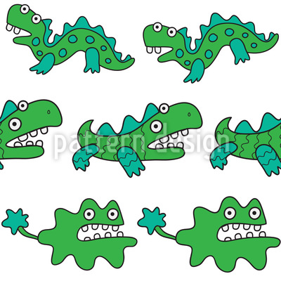 Gute Monster Nahtloses Vektor Muster