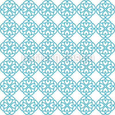 Florales Linienwerk Vektor Muster