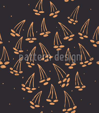 Cherry Night Pattern Design