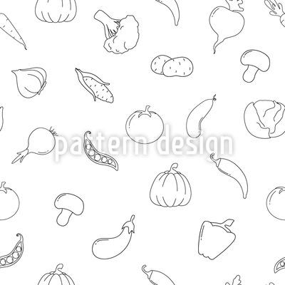 Gemüse Durcheinander Musterdesign
