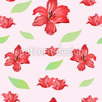 Leidenschaft Für Lilien Vektor Muster