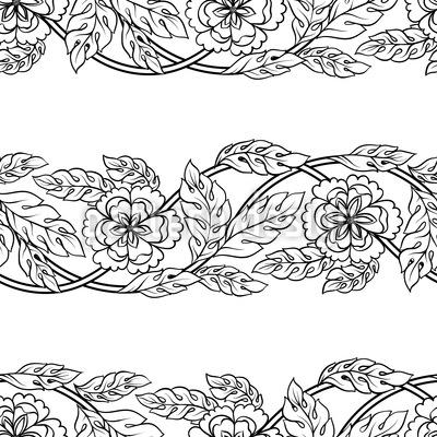 Blumen Zusammenspiel Nahtloses Vektormuster