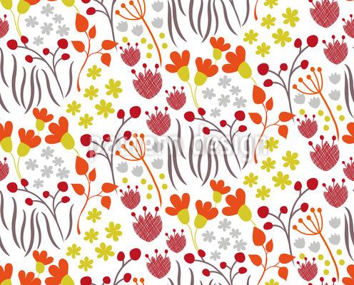 Wiesen Wildblumen Nahtloses Vektormuster
