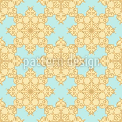 Geometric Flower Pattern Design