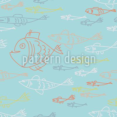 Unterwasserwelt Doodles Rapportiertes Design