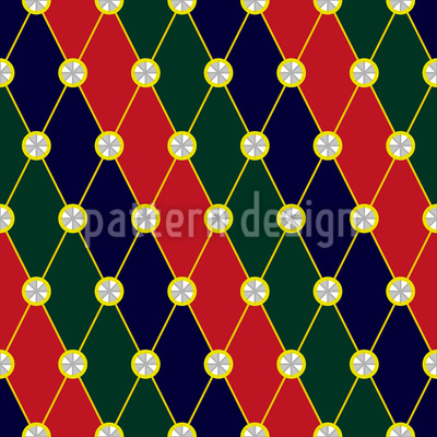 Royal Sparkles Seamless Vector Pattern