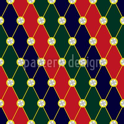 Royales Glitzern Nahtloses Vektor Muster