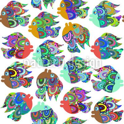 Lebhafte Fische Nahtloses Vektor Muster