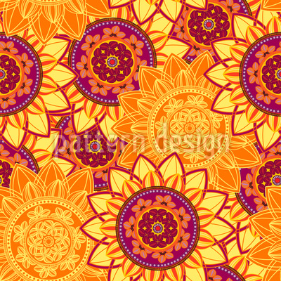 Sunshine Mandala Vector Ornament