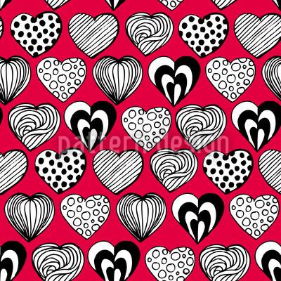 Lustige Herzen Nahtloses Vektor Muster