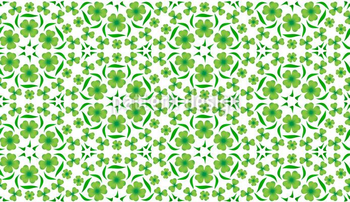 Glücksklee Tanz Muster Design