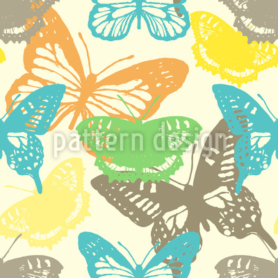 Butterfly Stamp Design Pattern