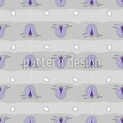 Tulip Field Seamless Vector Pattern