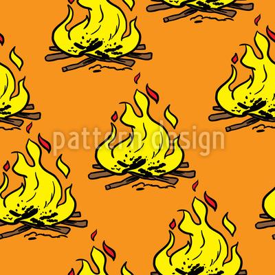 Pozo de fuego Estampado Vectorial Sin Costura