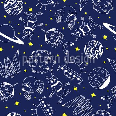 Abenteuer Im Weltraum Vektor Ornament