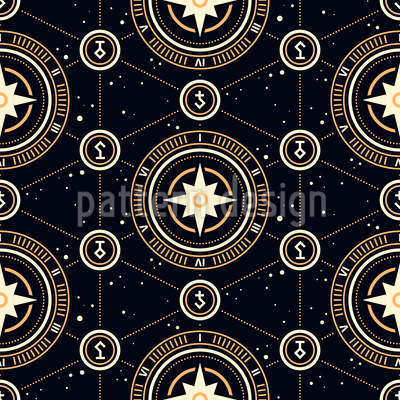 Seltsame Alchemistische Symbole Nahtloses Vektor Muster