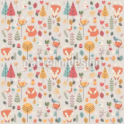 Baby-Fuchs von Blumen umgeben Vektor Design