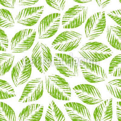 Stempeldruck Blätter Nahtloses Vektormuster