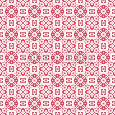 Mosaikblüten Rapportiertes Design