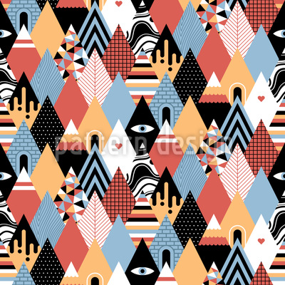 Patchwork Triangles Vector Design